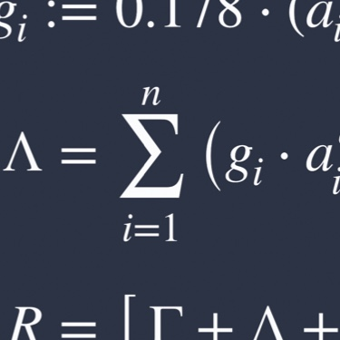 Section of formulas of mathematical functions